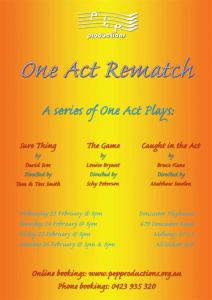 One Act Rematch